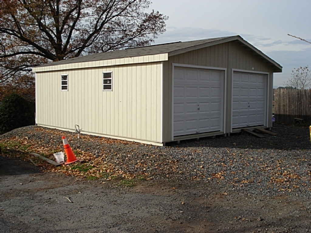 left modular garage interior view click either photo to see it larger right 24x24 foot modular garage