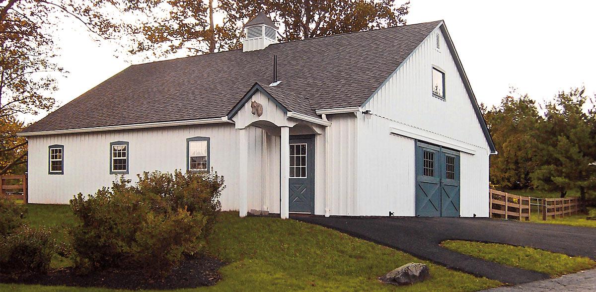 Amish Prefab Barns : Maryland amish horse barns shed row run in sheds