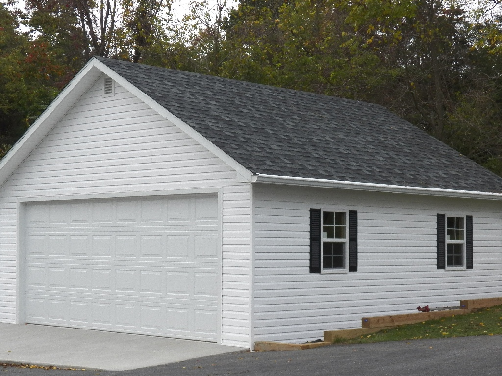 Maryland amish horse barns shed row barns run in sheds for 24x24 garage package